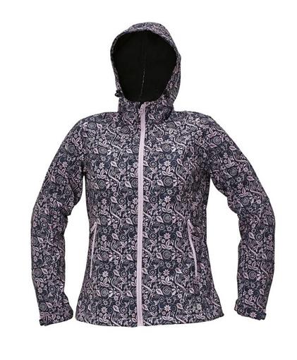 Obrázek z CRV YOWIE PRINTED Dámská softshellová bunda fialová