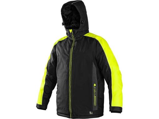 Obrázek z CXS BRIGHTON Pánská zimní bunda černo-žlutá