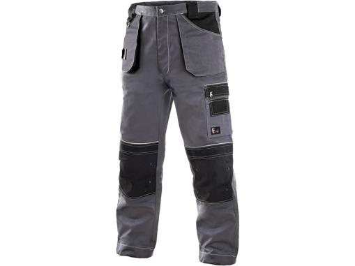 Obrázek z CXS ORION TEODOR Pracovní kalhoty šedo / černé prodloužené
