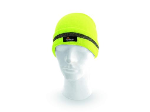 Obrázek z Vizwell KEADY Reflexní čepice žlutá - zimní