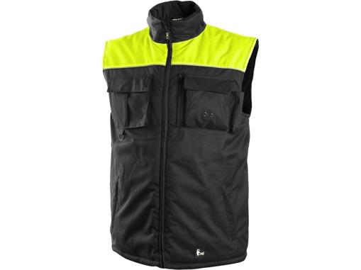 Obrázek z CXS SEATTLE Pracovní vesta fleece černo-žlutá zimní