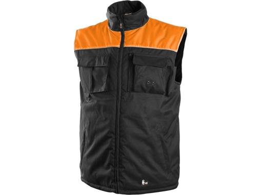 Obrázek z CXS SEATTLE Pracovní vesta fleece černo-oranžová zimní