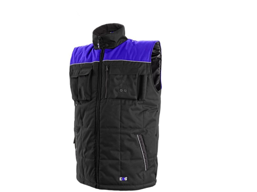 Obrázek z CXS SEATTLE Pracovní vesta fleece černo-modrá zimní