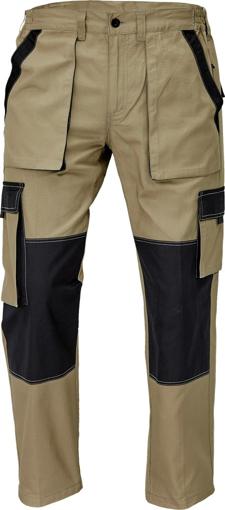 Obrázek z Červa MAX SUMMER Pracovní kalhoty do pasu písková / černá