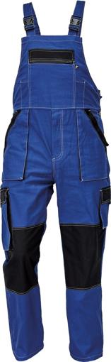 Obrázek z Červa MAX SUMMER Pracovní kalhoty s laclem modrá / černá