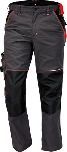 Obrázek z KNOXFIELD Pracovní kalhoty do pasu - antracit / červená