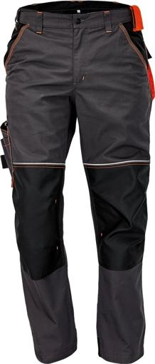 Obrázek z KNOXFIELD Pracovní kalhoty do pasu - antracit / oranžová