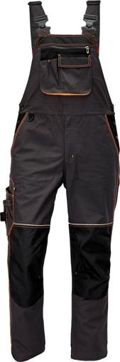 Obrázek z KNOXFIELD Pracovní kalhoty s laclem - antracit / oranžová