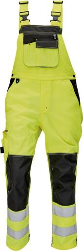 Obrázek z KNOXFIELD HI-VIS Reflexní kalhoty s laclem - žlutá