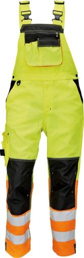 Obrázek z KNOXFIELD HI-VIS Reflexní kalhoty s laclem - žlutá / oranžová