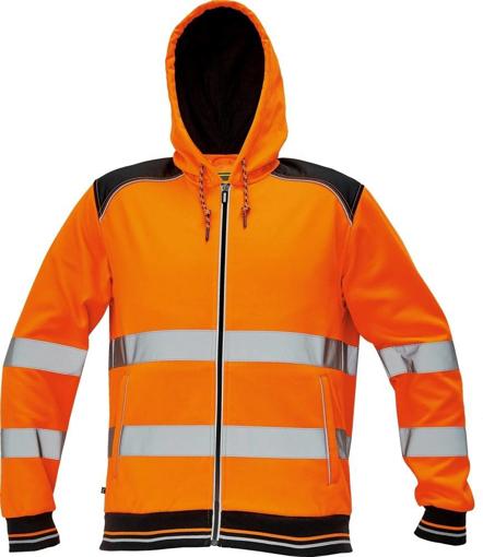 Obrázek z KNOXFIELD HI-VIS Reflexní mikina s kapucí - oranžová