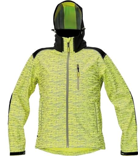 Obrázek z KNOXFIELD PRINTED Pánská softshellová bunda - žlutá
