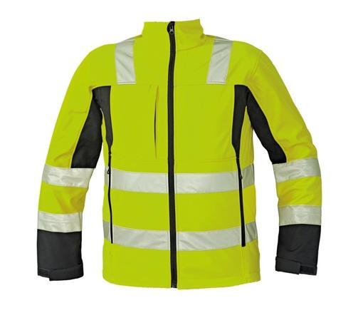 Obrázek z Červa MALTON Reflexní softshellová bunda žlutá