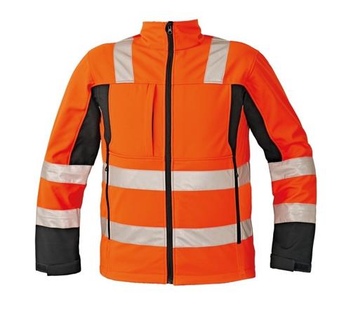 Obrázek z Červa MALTON Reflexní softshellová bunda oranžová