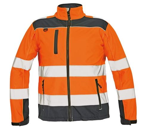 Obrázek z Červa RYTON Reflexní softshellová bunda oranžová