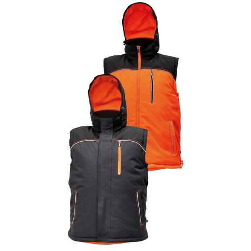Obrázek z KNOXFIELD Pracovní vesta antracit / oranžová - zimní