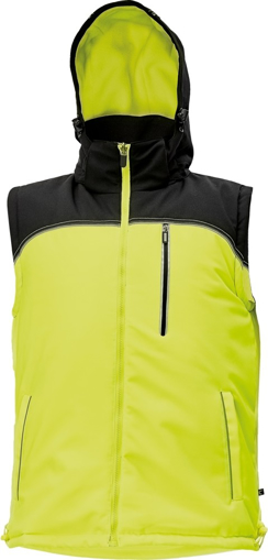 Obrázek z KNOXFIELD Pracovní vesta antracit / žlutá - zimní