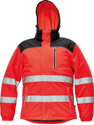 Obrázek z KNOXFIELD HI-VIS Reflexní bunda červená - zimní