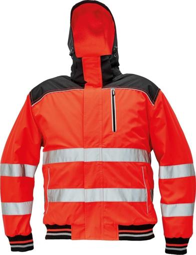 Obrázek z KNOXFIELD HI-VIS PILOT Reflexní bunda červená - zimní