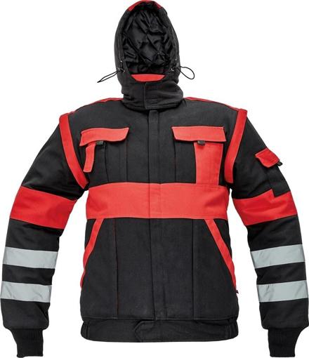 Obrázek z Červa MAX WINTER RFLX Montérková bunda černo / červená - zimní