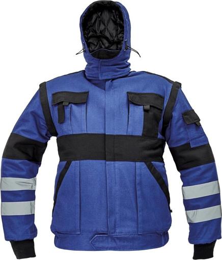Obrázek z Červa MAX WINTER RFLX Montérková bunda modro / černá - zimní