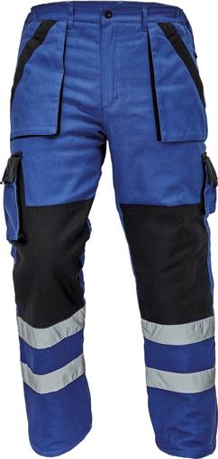 Obrázek z Červa MAX WINTER RFLX Pracovní kalhoty do pasu modro / černé - zimní