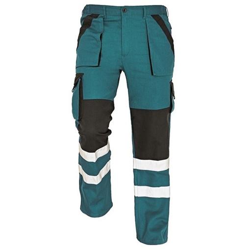Obrázek z Červa MAX WINTER RFLX Pracovní kalhoty do pasu zeleno / černé - zimní