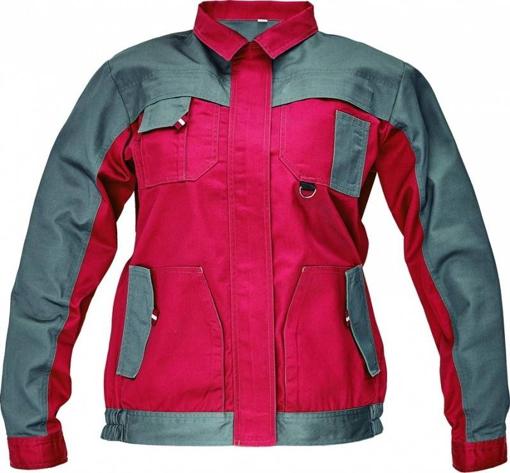 Obrázek z Červa MAX EVOLUTION LADY Dámská montérková bunda červeno / šedá