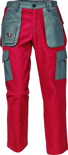 Obrázek z Červa MAX EVOLUTION LADY Dámské kalhoty do pasu červeno / šedé
