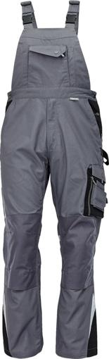 Obrázek z Australian Line ALLYN Pracovní kalhoty s laclem šedá