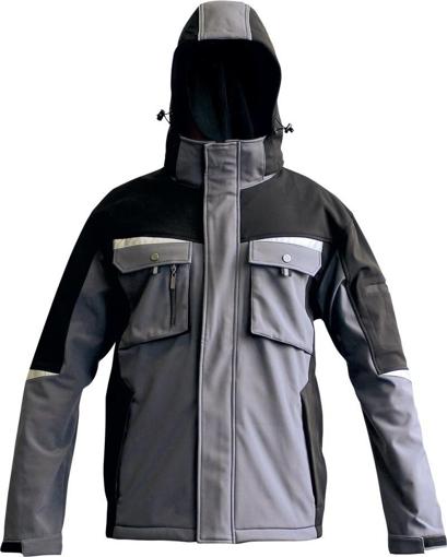 Obrázek z Australian Line ALLYN Pánská softshellová bunda s kapucí šedá