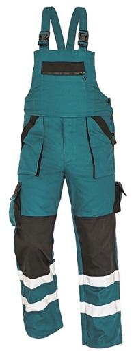 Obrázek z Červa MAX WINTER RFLX Pracovní kalhoty s laclem zeleno / černé