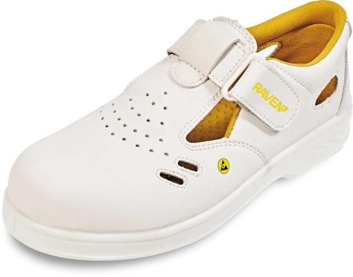 Obrázek z RAVEN ESD SANDAL S1 SRC Pracovní obuv bílá