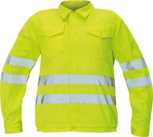 Obrázek z Červa KOROS Reflexní bunda žlutá