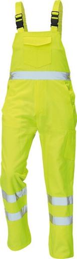 Obrázek z Červa KOROS Reflexní kalhoty s laclem žlutá
