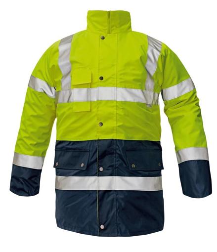 Obrázek z Červa BI ROAD Reflexní bunda žlutá 4v1 - zimní