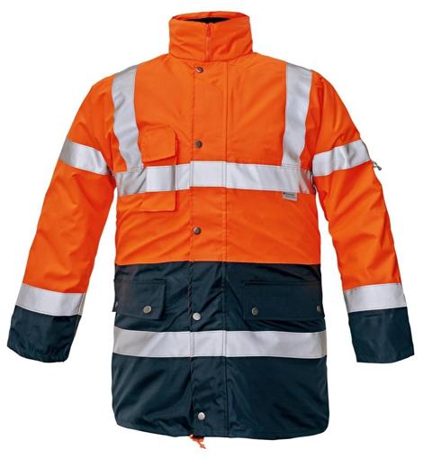 Obrázek z Červa BI ROAD Reflexní bunda oranžová 4v1 - zimní