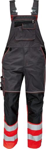Obrázek z KNOXFIELD REFLEX Reflexní kalhoty s laclem - antracit / červená