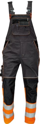 Obrázek z KNOXFIELD REFLEX Reflexní kalhoty s laclem - antracit / oranžová