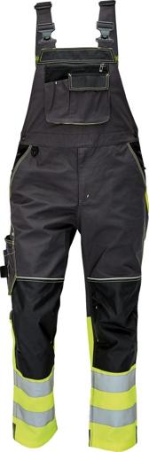 Obrázek z KNOXFIELD REFLEX Reflexní kalhoty s laclem - antracit / žlutá