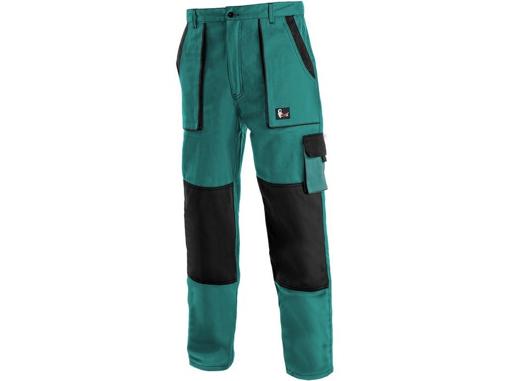 Obrázek z CXS LUXY JAKUB Pracovní kalhoty do pasu zeleno / černé - zimní