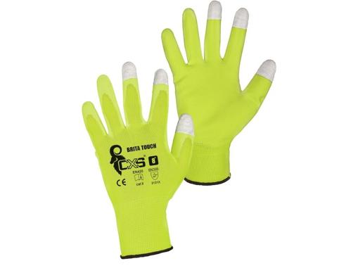 Obrázek z CXS BRITA TOUCH Pracovní polomáčené rukavice