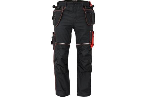 Obrázek z KNOXFIELD 310 Pracovní kalhoty do pasu - antracit / červená