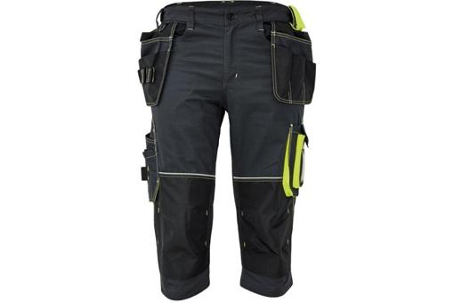 Obrázek z KNOXFIELD 320 Pracovní 3/4 kalhoty - antracit / žlutá