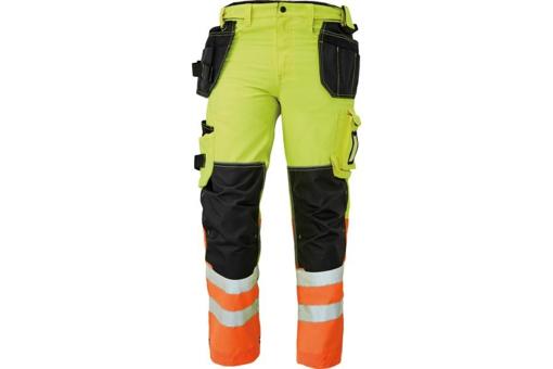 Obrázek z KNOXFIELD HI-VIS 310 FL Reflexní kalhoty do pasu - žlutá / oranžová