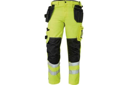 Obrázek z KNOXFIELD HI-VIS 310 FL Reflexní kalhoty do pasu - žlutá