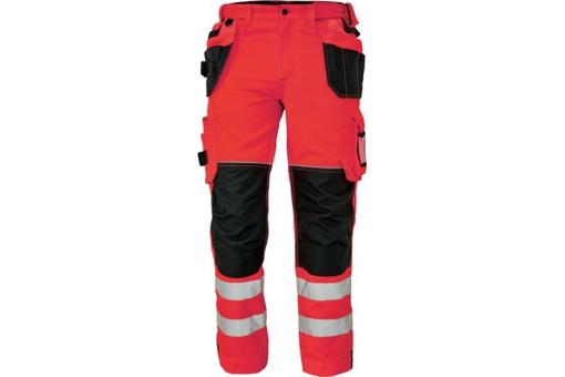 Obrázek z KNOXFIELD HI-VIS 310 FL Reflexní kalhoty do pasu - červená
