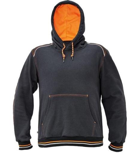 Obrázek z KNOXFIELD Pracovní mikina klokanka - antracit / oranžová