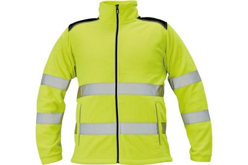 Obrázek z KNOXFIELD HI-VIS Pánská fleecová bunda žlutá