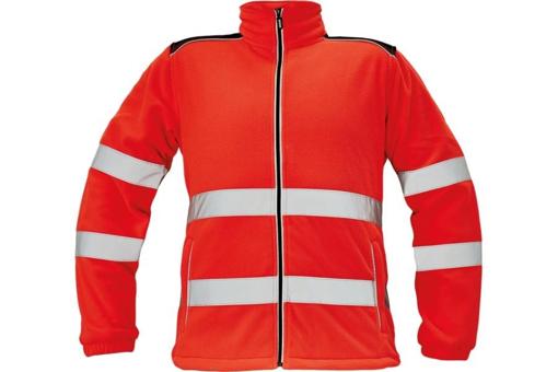Obrázek z KNOXFIELD HI-VIS Pánská fleecová bunda červená